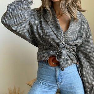 🛍 Vintage Cashmere Dolman Crop Jacket